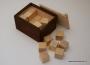 Koka klucīšu komplekts kastē